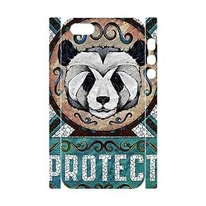 3D [Beautiful Panda] Protect Panda Case For Sam Sung Galaxy S4 Mini Cover {White}