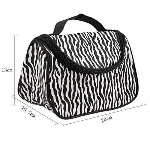 Fashion Pouch Multifunction Black Cosmetic with Stripes Makeup Travel Swiftswan Bag White Zebra 4xpttY