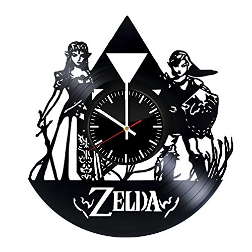 Sheik Costume Legend Of Zelda (The Legend of Zelda Vinyl Record Wall Clock . Get unique home room wall art decor. Cool gift ideas for boys, girls, kids, teens, men and women.)