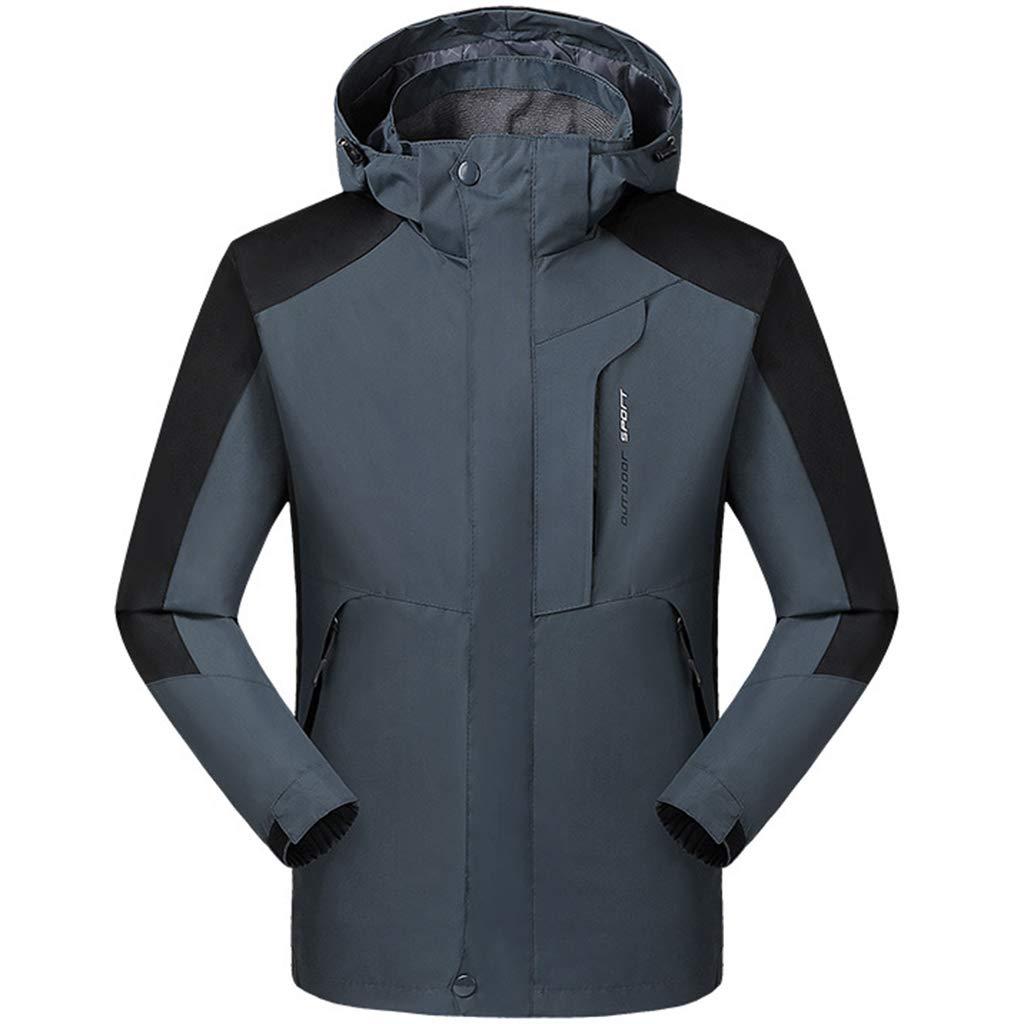 Liabb Herren wasserdichte Klettern Berg Jacke im Freien 3-in-1 Leichten Regen Jacke mit Kapuze Ski Wasserdicht Winddichte Jacken beiläufige Kleidung