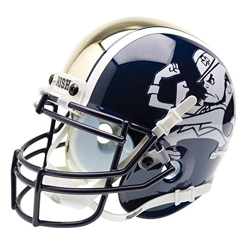Schutt NCAA Notre Dame Fighting Irish Mini Authentic XP Football Helmet, ALT 1