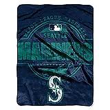 Seattle Mariners MLB Micro Raschel Blanket (Structure Series) (45in x 60in)