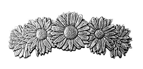 Daisies Hair Clip | Hand Crafted Metal Barrette Made in the USA with imported French Clips By Oberon Design …