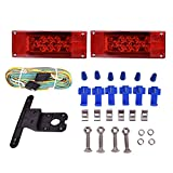 CZC AUTO 12V LED Low Profile Submersible Rectangular Trailer Light Kit Tail Stop Turn Running Lights for Boat Trailer Truck