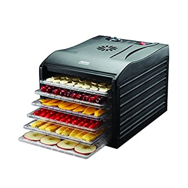 Aroma 6 Tray Food Dehydrator (BLACK, SPECIAL BUNDLE)