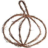 Factory Direct Craft Grapevine Twig Pumpkin Hanger for Home and Autumn Decor