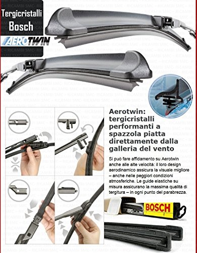 3397118931 Kit 2 Spazzole tergicristallo BOSCH AEROTWIN ANTERIORI