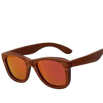 Z&YQGafas de Sol de Madera Gafas de Sol polarizadas de Moda ...