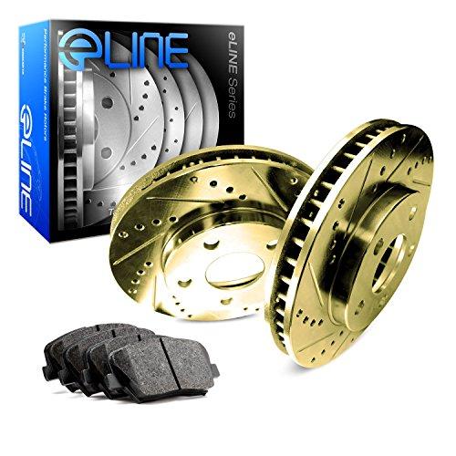 Rear eLine Gold Series Drilled Slotted Brake Rotors & Ceramic Pads RGC.63116.02