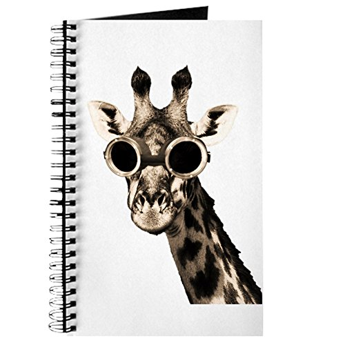 CafePress - Giraffe With Steampunk Sunglasses Goggles Journal - Spiral Bound Journal Notebook, Personal Diary, - Sunglasses Journal