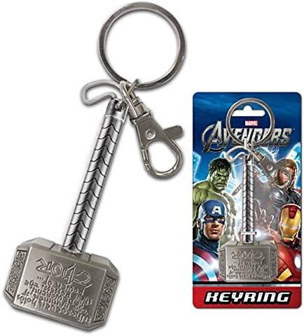 Marvel Hombre Comics martillo de Thor peltre Llavero (con caja de regalo), negro, talla única: Amazon.es: Juguetes y juegos