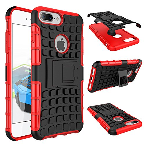Price comparison product image Armor Case For Apple iPhone 7 PLUS Suntechor Heavy Duty Hybrid Protective Case Shockproof Hard Cover (Red)