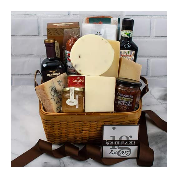 Italian Premier Gift Basket (5.8 pound) 1 Ships expedited in an insulated package to ensure freshness All igourmet.com Gift Baskets are filled with only premium quality items you will be proud to give Send a basket of wonderful cheeses, sweets and more