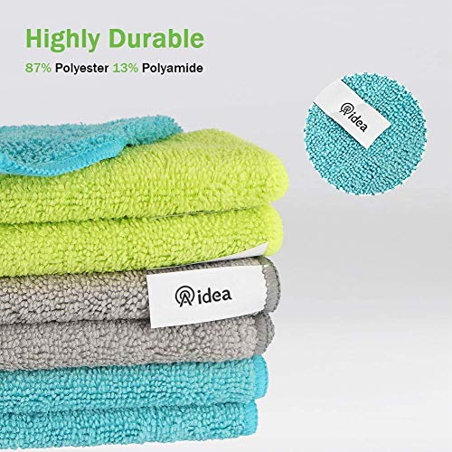 AIDEA Microfiber Cleaning Cloths Softer Highly Absorbent, Lint Free Streak Free for House, Kitchen, Car, Window Gifts(12in.x16in.)—8PK