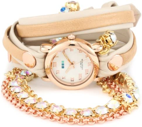 La Mer Collections Women s LMMULTI5002RAIN Rainbow St. Tropez Chandelier Crystal Wrap Watch