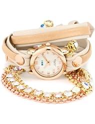 La Mer Collections Womens LMMULTI5002RAIN Rainbow St. Tropez Chandelier Crystal Wrap Watch
