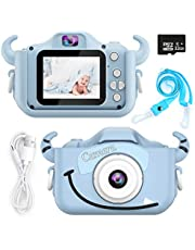 Kids Camera,HONEYWHALE Digital Camera for Kids 2.0 Inch IPS Screen HD Video Cameras for Toddler,Best Birthday Gifts for Boys Girls 3 4 5 6 7 8 9 Years Old (Blue)