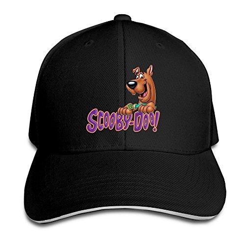 Runy Custom Scooby Doo Logo Adjustable Sandwich Hunting Peak Hat & Cap Black