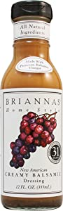 Briannas Home Style New American Dressing Creamy Balsamic -- 12 fl oz (Pack of 2)