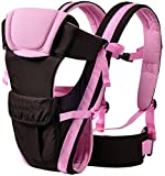 Ineffable Pocket Strong Belt Durable Baby Carrier Baby Carrier(Pink, Back Carry)