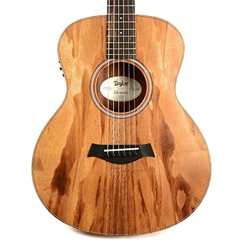 Acoustic Guitar Natural Solid Wood - Taylor GS Mini-e Solid Koa Top ESB w/Gig Bag with case