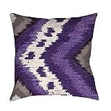 Best Thumbprintz Pillows - Thumbprintz Tribal Ikat Plum Indoor/Outdoor Throw Pillow Medium Review