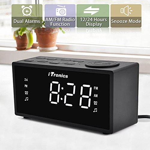 upgraded version itronics led dual alarm clock. Black Bedroom Furniture Sets. Home Design Ideas
