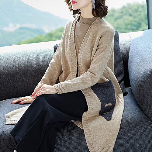 D'automne D'hiver Femme Liuxc Vêtements Confortable Veste Et Chaude Pour Décontractée Beige Femmes Femme Lavée gIIE6qB