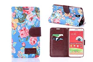 Galaxy Note 3 case,Note 3 case,Galaxy note 3 phone case,Creativecase Unique beautiful Wallet and PU Leather design with Credit ID Card Note 3 case Cover for Samsung Galaxy Note 3 N9000 05#03V