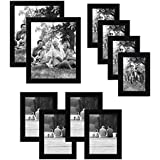 Americanflat 10-Piece Multi Pack Includes 8x10, 5x7, and 4x6 Frames, Gallery