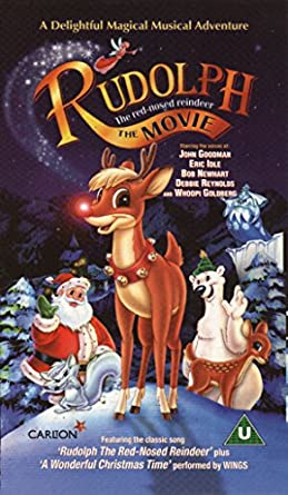 amazon com rudolph the red nosed reindeer the movie vhs john goodman bob newhart debbie reynolds eric pospisil kathleen barr whoopi goldberg eric idle richard simmons alec willows lee tockar garry chalk christopher gray red nosed reindeer the movie vhs
