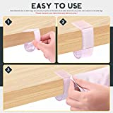 Hilitchi 30Pcs Plastic Table Skirting Clips with