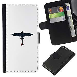 Protector de cuero de la PU de la cubierta del estilo de la carpeta del tirón BY RAYDREAMMM - Apple Iphone 5C - Dragon volador