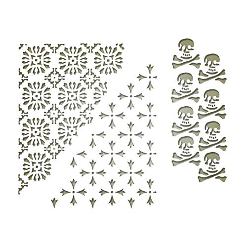 Sizzix 663089 Thinlits Dies Mixed Media Halloween #2 by Tim Holtz, 3-Pack, us:one Size, -
