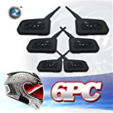 LEXIN® 6x BT 1000M Motorcycle Helmet Bluetooth Intercom Headset Connects upto 6 riders Waterproof