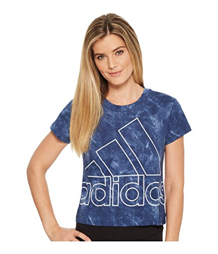 adidas Women's Sport ID Slim Tee Noble Indigo Medium