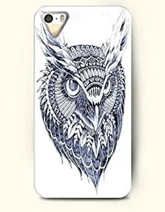 iPhone 5 / 5S Case, OOFIT Phone Cover Series for Apple iPhone 5 /5S Case -- Ornate Owl Head with Penetrating Eyes