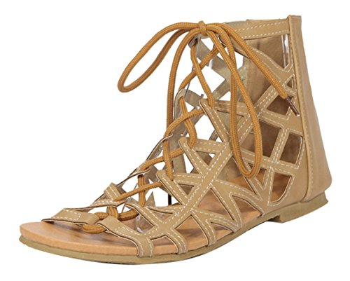 Insun , Damen Sandalen Aprikose