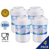 G E Smartwater Filtration Golden Icepure Refrigerator Water Filter Replacement for GE MWF SmartWater, MWFA, MWFP, GWF, GWFA, Kenmore 9991,46-9991, 469991 (4)