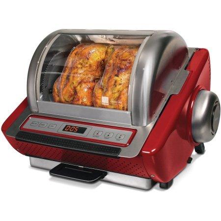 Ronco EZ-Store Rotisserie Oven 5250 Series - Red