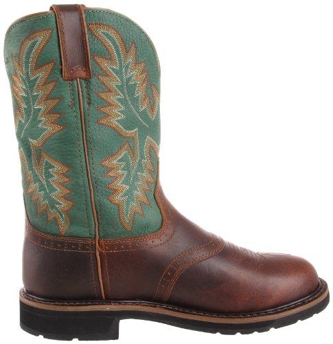 Justin Original Work Boots Heren Stampede Laars Ruige Tan / Lemmetgroen