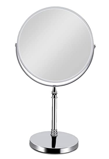 Buy Aasa Vanity Mirrors For Makeup And Shaving Silver Double Sided Zoom 1x And 5x Magnification 360 Rotating For Home And Travel Use Pack Of 1 Online At Low Prices In India