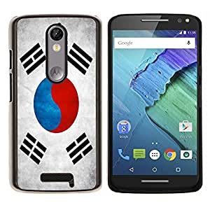 EJOOY---Cubierta de la caja de protección para la piel dura ** Motorola Moto X3 3rd Generation ** --Nación Bandera Nacional País Corea del Sur