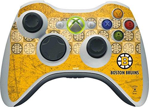 NHL Boston Bruins Xbox 360 Wireless Controller Skin - Boston Bruins Vintage Vinyl Decal Skin For Your Xbox 360 Wireless Controller