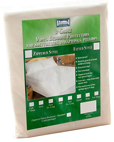 The Allergy Store Zippered Vinyl Mattress Cover, 3 Gauge, 12