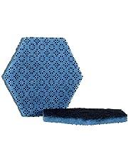 Scoar|#Scotch-Brite 09634 Scotch-Brite Low Scratch Scour Pad 2000Hex, Blue (Pack of 15)