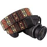 Wolven DSLR/SLR Camera Neck Shoulder Belt Strap Cotton Canvas DSLR/SLR Camera Neck Shoulder Belt Strap For Nikon Canon Samsung Pentax Sony Olympus or Other Cameras (Yellow Stripe Pattern)