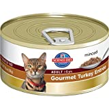 Hill's Science Diet Adult Optimal Care Gourmet Turkey Entree Minced Cat Food, 5.5-Ounce Can, 24-Pack, My Pet Supplies