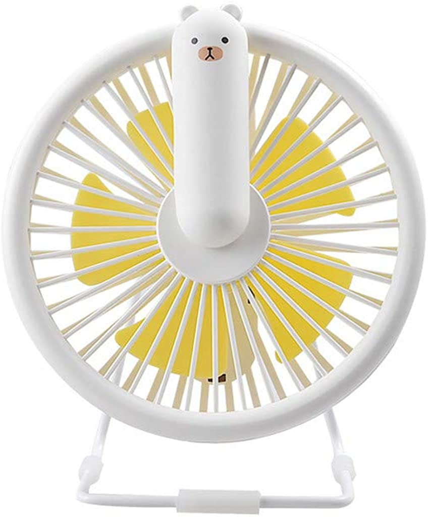 Winner666 Mini Cartoon Three Gear Large Wind Fan with USB Light Light USB Rechargeable Silent 3-Speed Wind