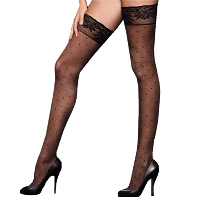 afaf1b109fa Image Unavailable. Image not available for. Color  Victoria s Secret  Supermodel Legs Sexy Sheer Thigh High Stockings ...